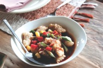 Sulawesi travel: fish and vegetables dish
